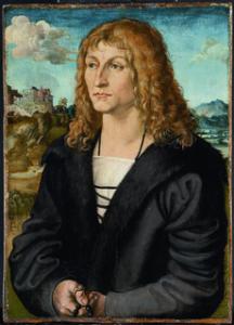 Lucas Cranach d. Ä. (?) Bildnis eines bartlosen Mannes, um 1500, Fichtenholz, 46 x 33 cm Hessische Hausstiftung, Kronberg, Bildquelle: http://www.hypo-kunsthalle.de/