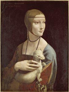 Leonardo da Vinci Dame mit dem Hermelin (Portrait der Cecilia Gallerani), 1489/90 Krakau, Besitz der Prinz Czartoryski Stiftung, im Nationalmuseum Krakau © bpk / Scala, Bildquelle: http://www.smb.museum/smb/gesichter/home.php