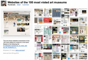 Websites of the 100 most visited art museums