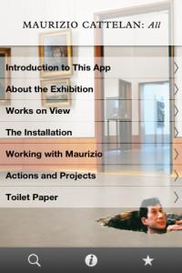 """App Guggenheim Museum: """"Maurizio Cattelan: All"""""""