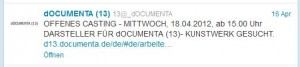 die dOCUMENTA13 twittert