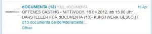 die dOCUMENTA13 twittert