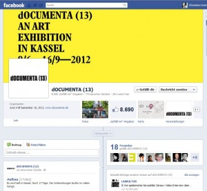 dOCUMENTA 13 auf Facebook