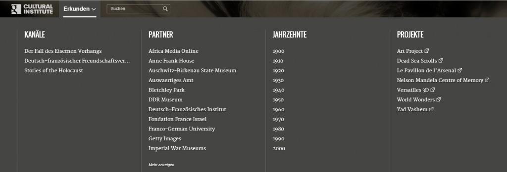 Das Google Cultural Institute: http://www.google.com/culturalinstitute