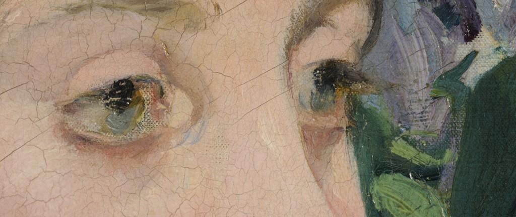 """Edouard Manet (1832 - 1883), """"Im Wintergarten"""" (""""Dans la serre""""), Gemälde / Öl auf Leinwand (1879) © Staatliche Museen zu Berlin, Nationalgalerie"""