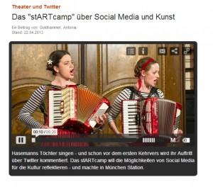 Beitrag auf Bayern 2 zum stARTcamp