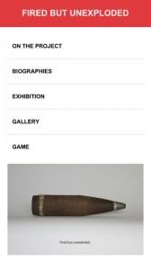 """Screenshot der APP """"unexploded"""" zur Videoinstallation von Zsolt Asztalos im Pavillon Ungarns auf der Biennale 2013 (erhältlich für Android und iPhone)"""