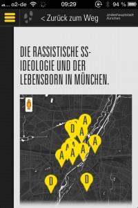 "Interaktive Karte zum ""Lebensborn"" in München"