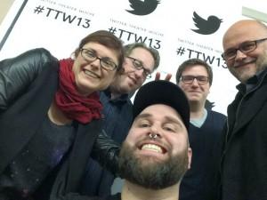 Livetwitterer im Residenztheater: @twena, @NetzwerkPilot, @phike1207, @cogries (@TanjaPraske kam noch dazu)