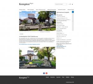 Museumswebsites versus Stadtportale: Die Museen der Stadt Kempten im Stadtportal